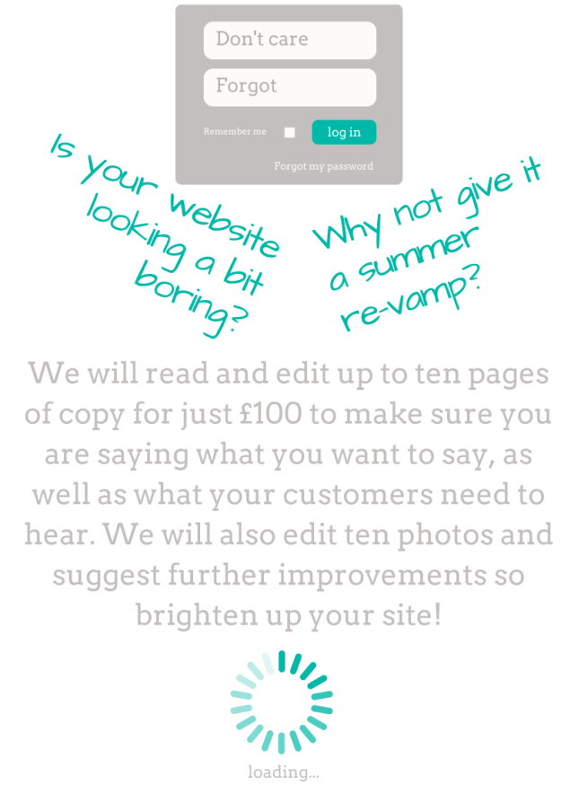 Website copy editing special offer