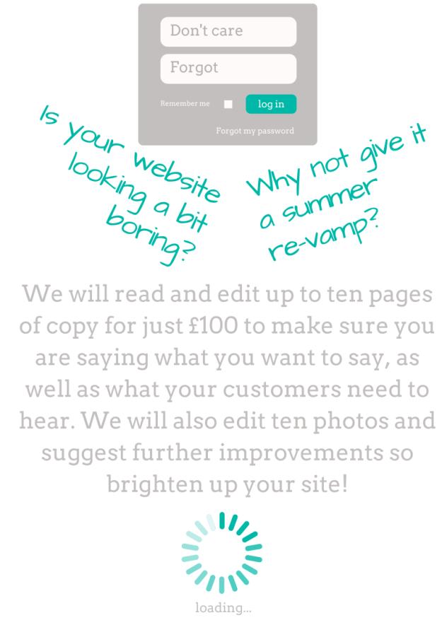 Website copy editing special offer